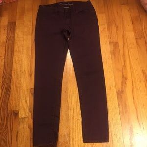American Eagle Outfitters Maroon Jeggins
